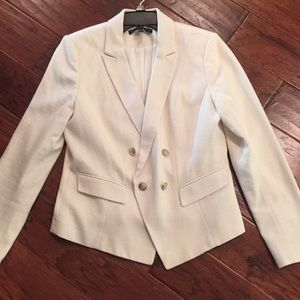 White house black market cream blazer, size 12